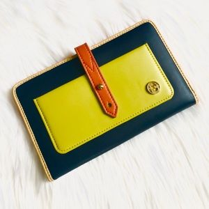 Spartina 449 Blue/Green Leather Wallet